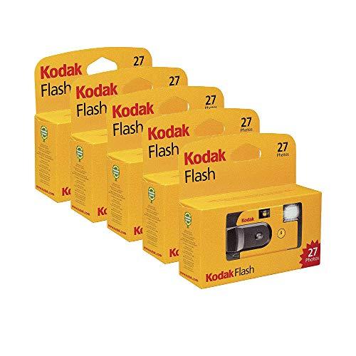 Kodak – Fotocamera usa e getta con Flash 27 esposizioni, confezione da 5