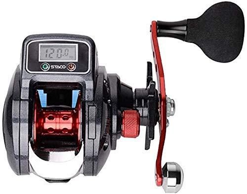Gaojian Bobina di filatura per la Pesca Esche da Pesca Display Digitale Ruota Destro Freno centrifugo Goccia LED Mulinello Elettrico Ruota idraulica 6,3: 1 velocit usate Rapporto Pesca,Right Hand