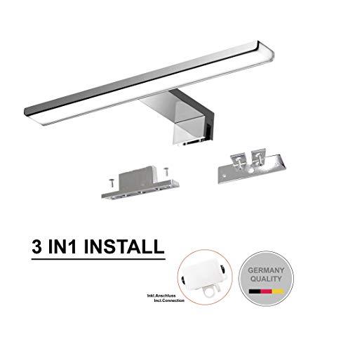 Lampe spiegelschrank Cywer IP44 Aufbauleuchte Klemmleuchte, 7W,500lm, Badleuchte Schminklicht Badezimmer Schrankleuchte Aufbauleuchte Schrank-Beleuchtung [Energieklasse A ]