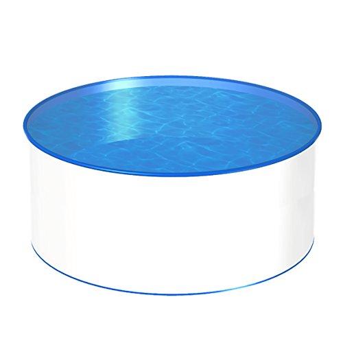POWERHAUS24 MTH Schwimmbecken, rund, 4,00m, Tiefenauswahl, 0,8mm Stahlwand, Folie mit Keilbiese-1,50m