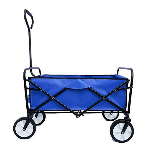 Folding Wagon Cart, Portable Large Capacity Beach Wagon,...