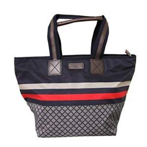 Gucci Unisex Brown Nylon Diamante Travel Tote Handbag 267922 8636 27