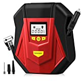 Air Compressor Tire Inflator,Portable Air Compressor 12V DC, Auto Tire Pump with Digital Pressure Gauge,LED Light, Long Cable , Auto Shut Off for Car Tires,Float Swimming Pool, Bicycle, Motorcycle