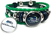 Leather bracelet with Easy to put on yourself adjustable double snap closure 18MM - 20MM NFL Logo Snap Charms These snaps will fit any 18MM - 20MM Snap jewelry as well as in this bracelet. Create a whole new look in a snap! Versatile interchangeable ...