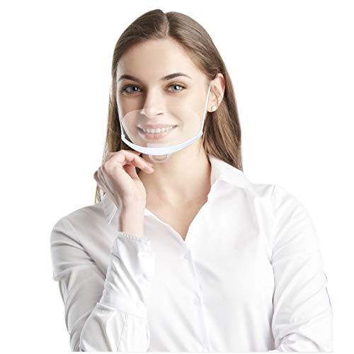 10 pezzi Visiera Bocca Paraschizzi Face Shield Trasparente Coperchio Antinebbia Proteggi Gli Occhi e Il Viso per Cucina...