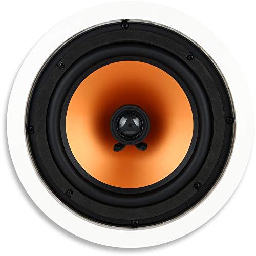 Micca M-8C 100 Watt 7.0 Channel In-ceiling, In-wall Speaker (White)