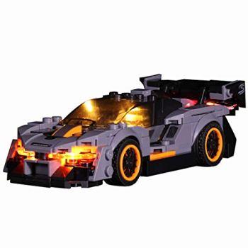 Mecotecn LED Lighting Kit for Lego 75892 Speed Champions Senna McLaren Driver Minifigure Race Car Building Set (Lego model not included)