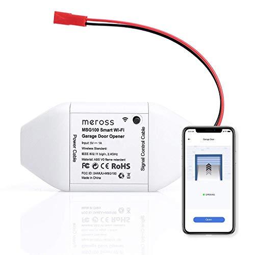 meross Smart Wi-Fi Garage Door Opener Remote, APP Control,...