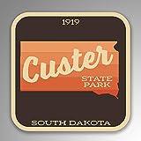 JB Print Custer State Park Explore Wanderlust Camping Senderismo vinilo adhesivo adhesivo impermeable coche coche calcomanía calcomanía parachoques 5 pulgadas