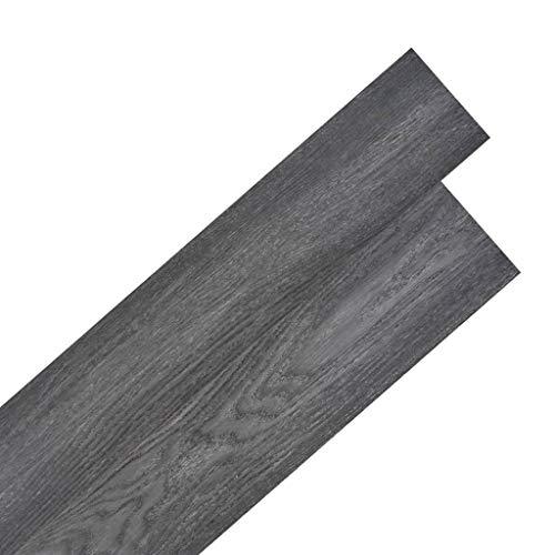 vidaXL Listoni Pavimentazione Autoadesivi PVC 5,02 m² 2mm Nero Bianco Listelli