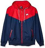 Nike M NSW He WR JKT HD Veste de sport Homme Bleu (midnight navy/university red/Midnight navy/(white), XL
