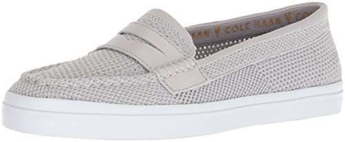 Cole Haan Women's Pinch Weekender LX Stitchlite Loafer Flat, Metallic/Silver/White, 7.5 B US