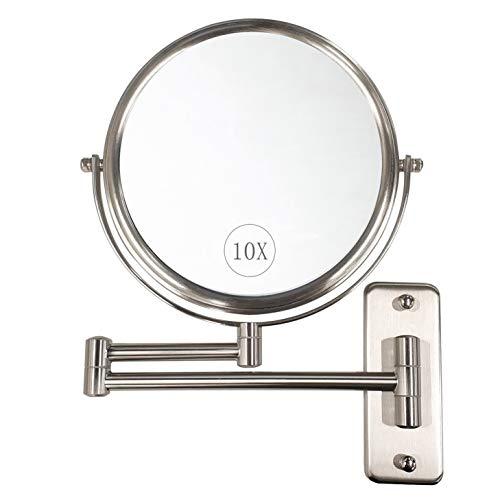 ALHAKIN Wall Mounted Makeup Mirror - 10x...