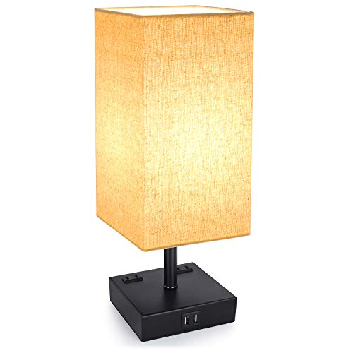 3-Way Touch Control Dimmable Table Lamp with 2 USB...