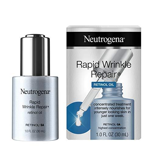 Neutrogena Rapid Wrinkle Repair Anti-Wrinkle Retinol Face Serum Oil, Lightweight Anti-Wrinkle Serum To Remove Dark Spots, Deep Wrinkle Treatment with Concentrated Retinol SA, 1.0 fl. oz