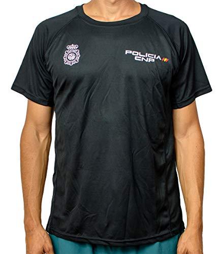 Alpimara Camiseta Policía Nacional Técnica Niño (Negra, 16)