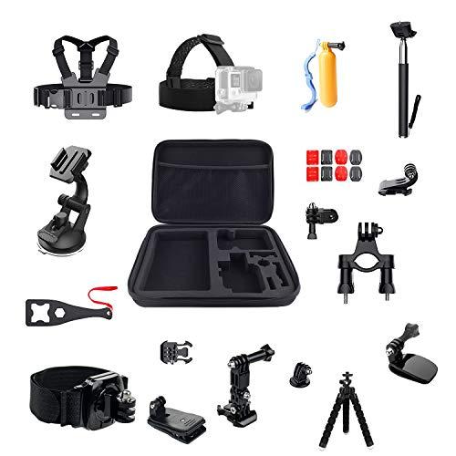 LiDCH, kit di accessori per GoPro Hero 7/6/5/4 Session Hero (2018) Fusion, DJI OSMO Action Accessories Pack, kit di accessori 16 in 1 per fotocamera sportiva
