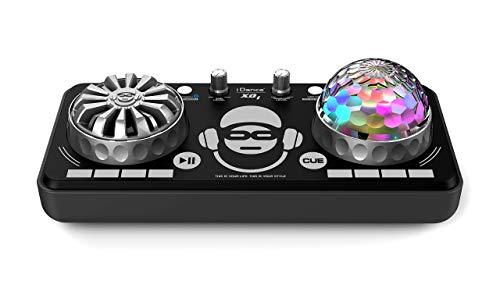idance Party Box Black con Microfono - Piatti da DJ Giocattolo