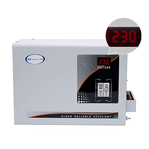 AULTEN 5KVA 4000W 90V - 300V Heavy Duty Mainline Voltage Stabilizer for Home, White
