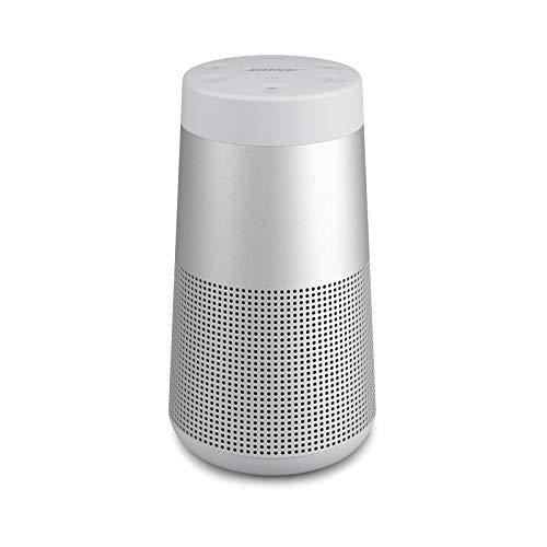Bose Enceinte Bluetooth Portable SoundLink Revolve(Séries II): Enceinte sans fil résistante à l'eau dotée d'un son à 360°, Argent