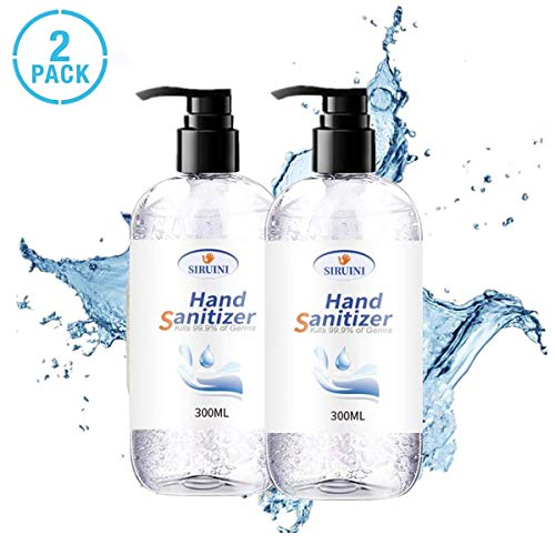 Hand Sanitizer Hand Soap Refreshing Gel Pump Bottle, Fresh Breeze 10 Fl Oz 300ml (2pcs)