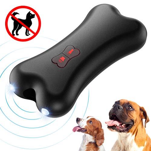 Petacc Anti-Bell-Gerät für Hunde, Ultraschall Anti-Bell-Mittel für Hunde Bellkontrolle 100{15c1403cb53ed1bc3cae3c13c97b27e53938bdc63e9e2064ab8f72c41bb2cbb5} Sicher, Handheld Trainingsgerät für Hunde im Freien, 5 Meter Regelbereich Wiederaufladbarer mit LED-Licht