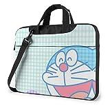 Funda para portátil de 15,6 Pulgadas Doraemon Music Laptop Maletín Bandolera Bandolera