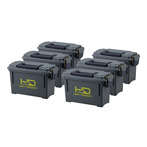 High Desert Plastic Ammo Boxes (6 Pack),...