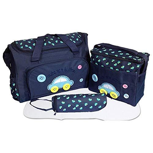 xcluma Baby Diaper Nappy Changing Baby Diaper Bag Mother Bag Mummy Bag Handbag (4 Pcs Set -Dark...