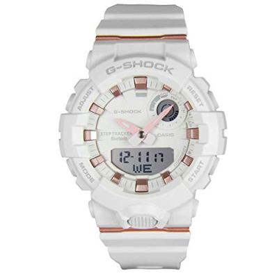 Ladies' Casio G-Shock S-Series G-Squad Connected White Resin Watch GMAB800-7A