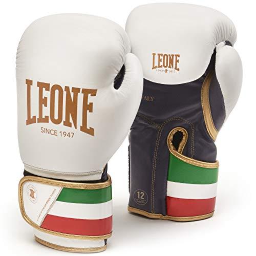 LEONE 1947 GN039 Guantes de Boxeo, Unisex – Adulto, Blanco, 16OZ
