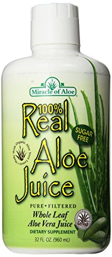 Real Aloe Juice from Organically Grown Aloe Vera Leaves, 100% Purified & Filtered, 960 ml