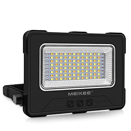 MEIKEE Solar Luce da lavoro LED, Ricaricabile Impermeabile IP65 10W luce da campo LED solare 12000mAh come Power Bank, 4 modalit, 5 luminosit