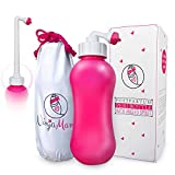 Peri Bottle for Soothing Postpartum Care. Post Partum 15oz Portable Perineal Bottle with Angled Spout - for Pain Treatment After Childbirth. Labor and Delivery Hospital Bag. Baby Shower Gift.