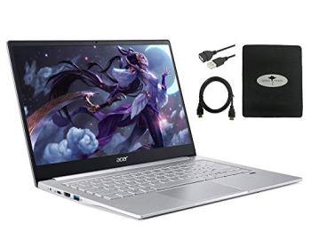 "2020 Newest Acer Swift 3 14"" FHD Thin & Light Laptop, AMD Ryzen 5 4500U(up to 4.0GHz), 8GB RAM, 512GB PCIe SSD, Backlit KB, Fingerprint Reader w/Ghost Manta Accessories"