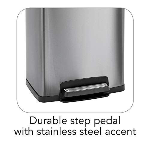 Product Image 8: Tramontina 13 Gallon Step Trash Can Stainless Steel Includes 2 Freshener Cartridges …