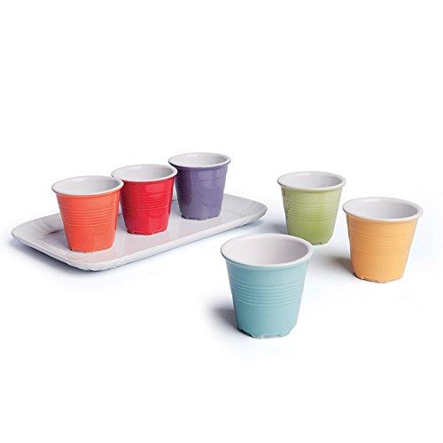Excelsa Coffee Color Servizio Tazzine da caffè, Porcellana, Multicolore