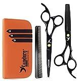 Candure Coiffure Ciseaux De Coiffure Barber Salon De Coupe De Cheveu Noir Vis...