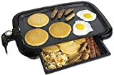 HomeCraft HCGDWD160BK Large 16x10 Non-Stick Griddle With Warming Drawer, Adjustable Temperature...