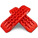 XPV New Recovery Traction Tracks Tire Ladder for Sand Snow Mud 4WD Recovery Traction Tracks Mat for 4X4 Offroad Sand Snow Mud Track Tire Ladder (Red)