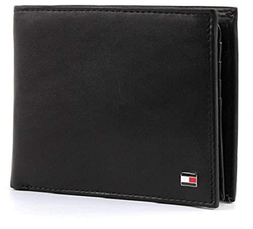 Tommy Hilfiger Herren Eton CC Flap and Coin Pocket Geldbörsen, Schwarz (Black 002), 13x10x2 cm