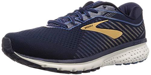 Brooks Ghost 12 Running Shoe Navy/Deep Water/Gold 7 D (M)