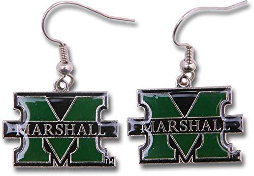 NCAA Marshall Thundering Herd Logo Dangler Earrings (Sports)