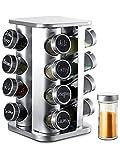 Especiero Giratorio 360° con 16 Botes para Especias - Con Etiquetas y Rotulador Borrable -...