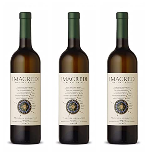 Vino Bianco Traminer aromatico Friuli Grave DOC - 3 Bottiglie