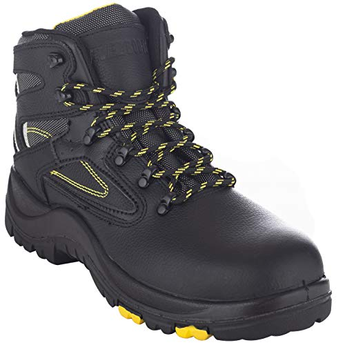 EVER BOOTS'PROTECTOR' Men's Steel Toe Industrial Work Boots Safety Shoes Electrical Hazard Protection (7 D(M), 6' Black)