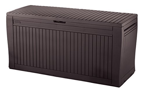 Keter - Comfy, Cassapanca per Esterni, Ideale per Tenere in Ordine, 270 l, 117 x 9 x 53 cm