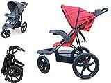 PAPILIOSHOP REBEL Poussette pour bébé enfant avec 3 grandes roues (Rouge)