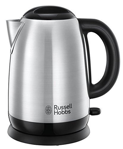 Russell Hobbs Adventure Hervidor de Agua Eléctrico - 2400 W, 1,7l, Acero Inoxidable, Filtro Extraíble, Plata - 23912-70