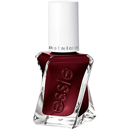 essie Gel Couture 2-Step Longwear Nail Polish, Good Knight, Dark Red Nail Polish, 0.46 fl. oz.
